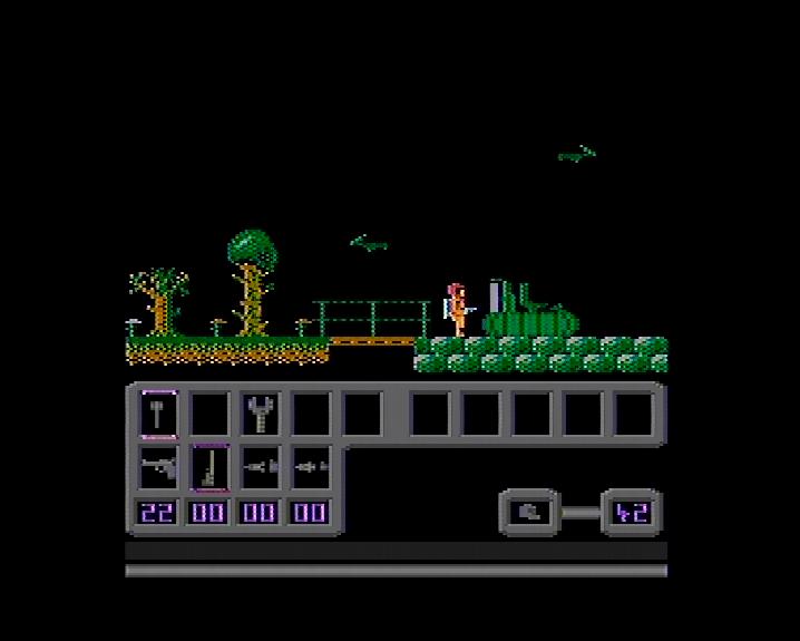 Hra Jurský Park II grabovaná priamo z Atari.