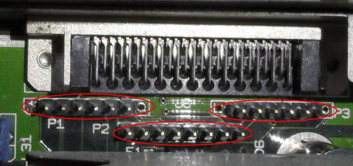 Interný SCSI konektor v C-LAB Falcon MK II