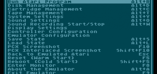 Atari 800 emulátor pre počítače Atari Falcon + CT60 + FireBee